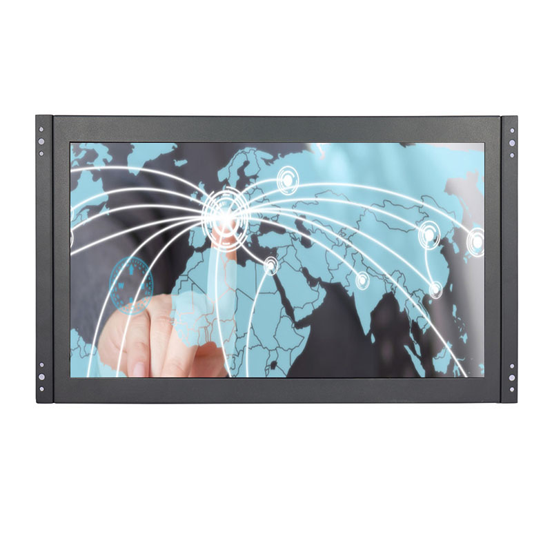 15.6 high resolution 1920*1080 10 points touch capacitive touch monitor VGA HDMI USB open frame touch monitor screen-in LCD Monitors from Computer & Office    1