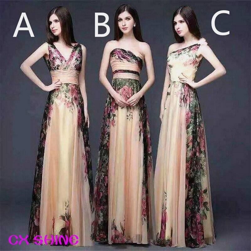 CX SHINE Mix style long pattern flower   Bridesmaid     Dresses   gown wedding   dress   Prom party   dress   women Vestidos robe de mariee
