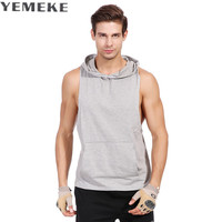 YEMEKE Musculation Vest Bodybuilding Clothing And Fitness Men Undershirt Solid Tank Tops Blank Golds Men Undershirt