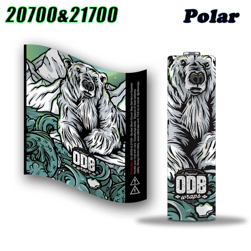 ODB Series 20700/21700 Battery Wrap Battery Sticker Protective Skin for 20700/21700 Battery Electronic Cigarette Accessories
