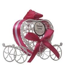 1 шт. новые коробки для конфет романтическая карета сладости Шоколадные украшения коробка металлические Свадебные сувениры для маленьких солнцезащитных вещей 10мая 12