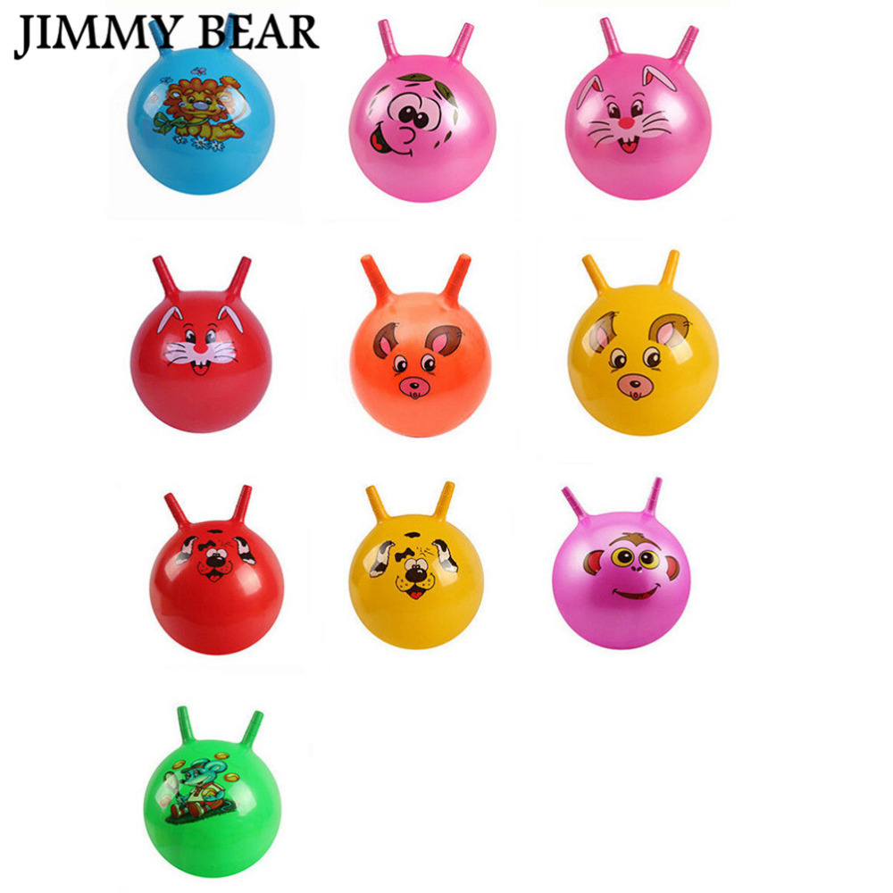 Subcluster 3 Pcs/Set Inflatable Bouncing Ball Sport Toy Cartoon Animal Educational for Baby Color Random