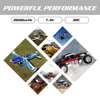 HRB Lipo 2s battery Hubsan H501S Battery 7.4V 2600mah 30C EC2 RC Drone Akku Li-Polymer For RC Quadcopter Helicopter Airplane 6