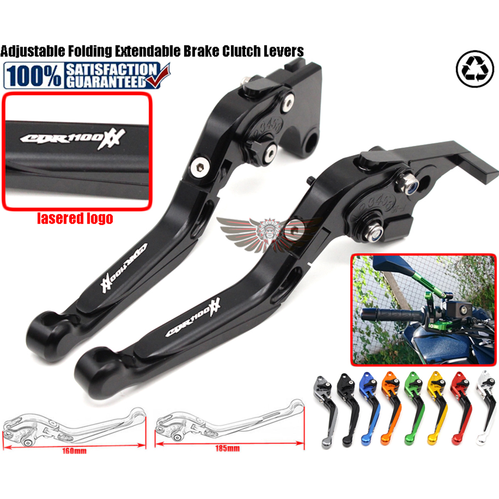 fits For HONDA CBR 1100XX 1997-2007 Motorcycle Adjustable Folding Extendable Brake Clutch Levers logo CBR1100XX billet alu folding adjustable brake clutch levers for motoguzzi griso 850 breva 1100 norge 1200 06 2013 07 08 1200 sport stelvio