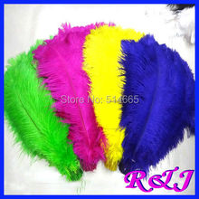 EMS Free shipping Cheap ostrich feather 100pcs 20-22 inches 50-55cm Mixed color Ostrich plumage ostrich plume