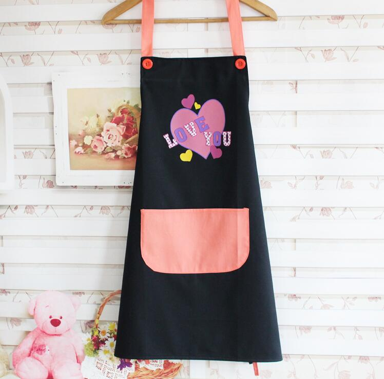 New design cotton aprons cute lovers style kitchen cooking for Apron designs and kitchen apron styles