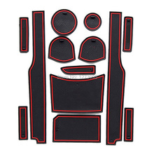 For 2010- 2014 Kia Soul LHD Gate Slot Pad Non-slip Cup Mats Anti Slip Door Groove Mat Sticker Interior Car Accessories 13pcs/set