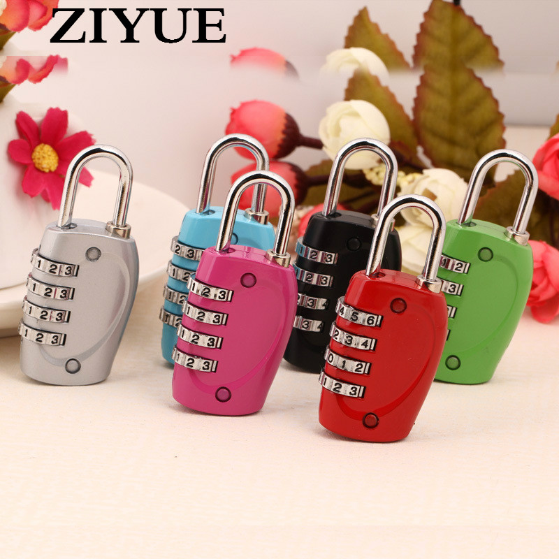 Free Shipping Non <font><b>Tsa</b></font> 330a Type Lock Lock <font><b>Padlock</b></font> Luggage Lock 4 Round Of Travel image