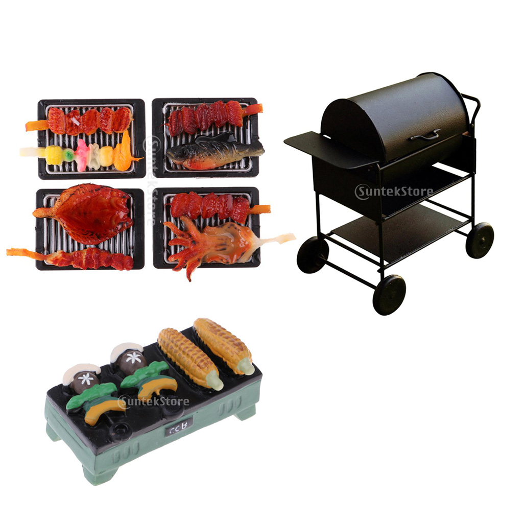Barbecues /& Grill Oven for 1//12 Dollhouse Miniature Kitchen Food Decoration