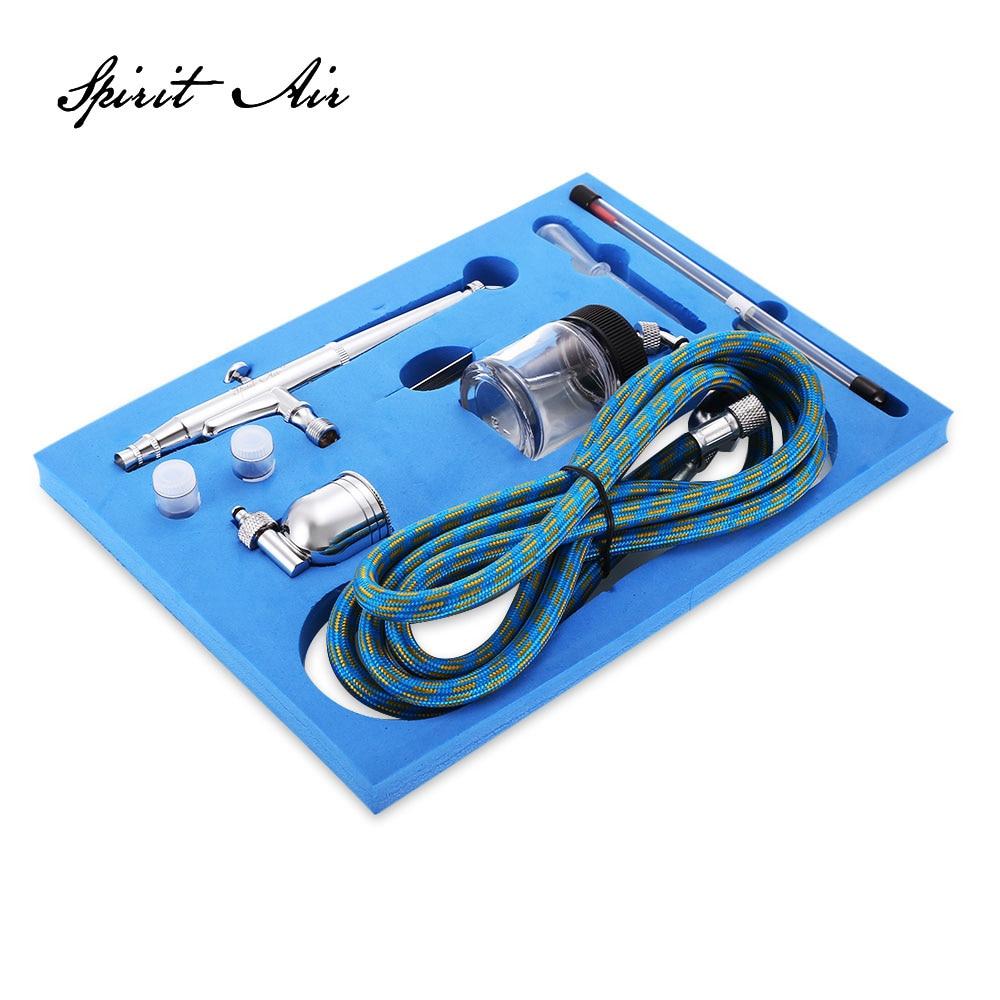 Portatile Dual Action Airbrush Compressore D'aria Kit 0.2mm/0.3mm/0.5mm Aghi e NozzlesCraft Torta Vernice Art Pistola A Spruzzo Set