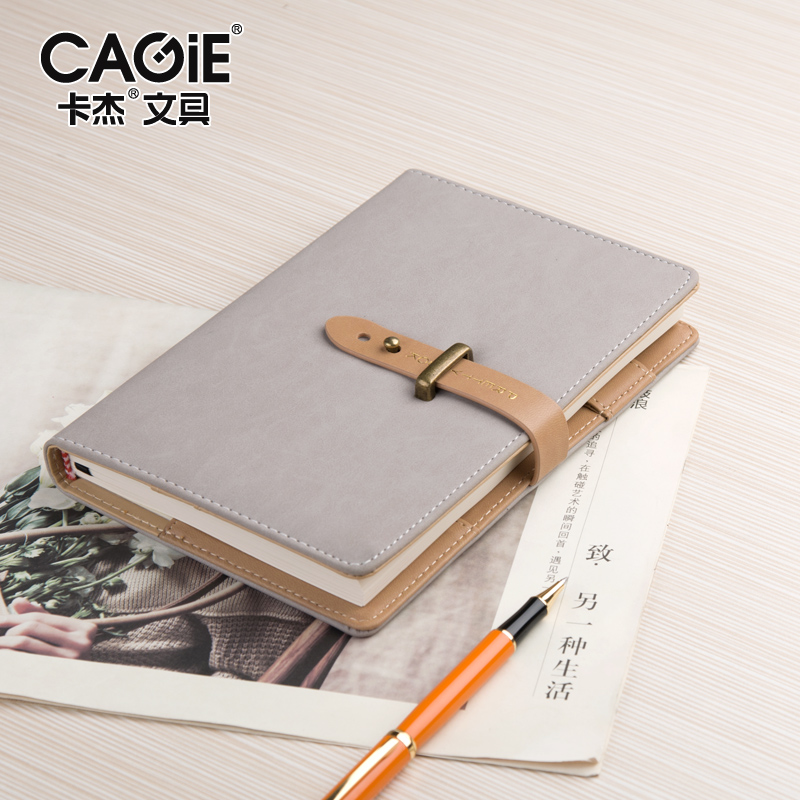 CAGIE Business Planner Notebook Vintage Hasp Office Agenda Origanizer Meeting Filofax Pu Leather School Notebooks 2016 new arrive a5 a6 pu leather planner snap notebook with notebooks writing pads office