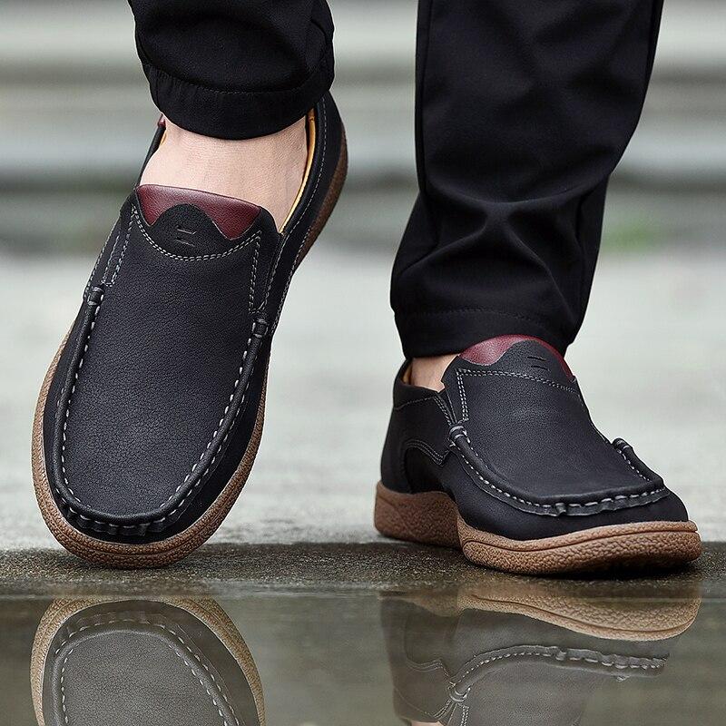 Home Gutherzig 2019 Mode Marke Männer Schuhe Atmungs Luxus Männer Leder Schuhe Casual Männer Schuhe Männliche Leder Schuhe Slip Auf Männer Müßiggänger Hh-382
