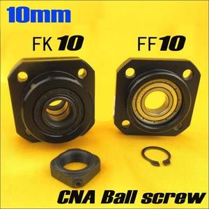 SFU1204 husillo de bolas 1 Uds FK10 y 1 Uds FF10 para 12mm 1204 soporte final de husillo de bolas cnc