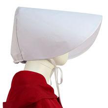 Handmaid Offred Cosplay White Bonnet June Osborne Hat Cap