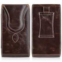 76163c016b7a7 For Iphone 6 6s 7 8 Plus Universal Leather Phone Pouch Case Belt Clip Waist  Bag