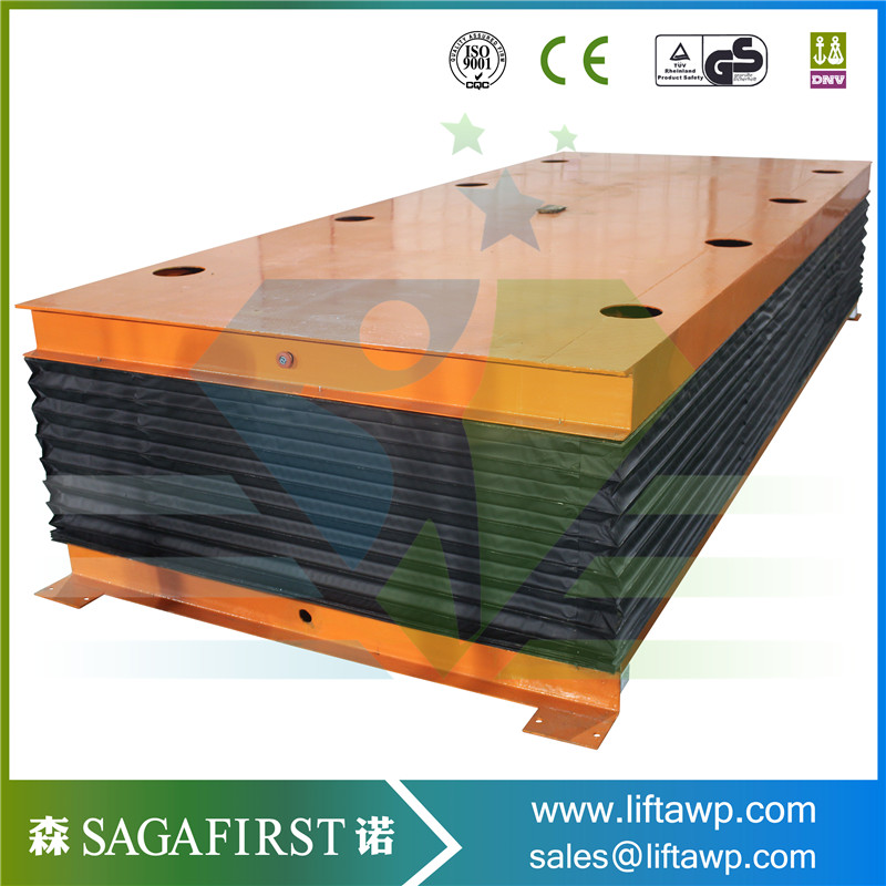 Hydraulic Cargo Lifting Equipment Electric Scissor Lift With Protection Cover /Wheels /Rollers