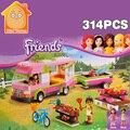 Minitudou amigas de las partículas pequeñas de construcción building blocks 314 unids juguete clásico diy ladrillos juego para niños