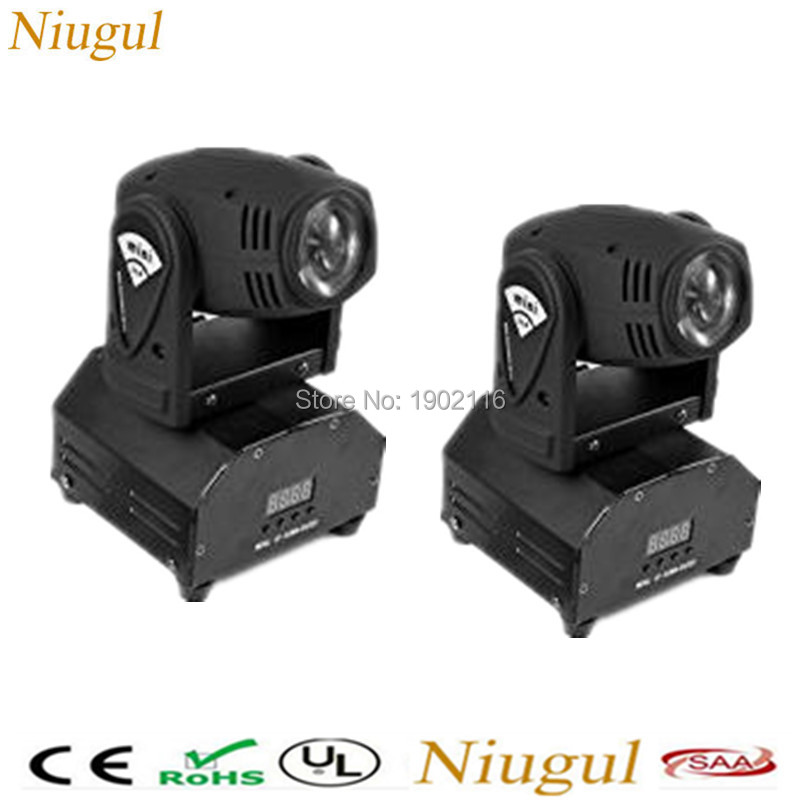 2pcs/lot DMX512 RGBW 4in1 Mini LED Moving Head Light for Disco,DJ, Club, home Party and Stage effect Lights 10W LED BEAM light 2pcs lot 10w spot moving head light dmx effect stage light disco dj lighting 10w led patterns light for ktv bar club design lamp