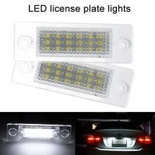 2 Pcs LED Auto Auto Della Targa di immatricolazione Della Lampada Della Luce per VW Transporter Golf Touran Passat 2017 XR657