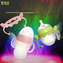 New Baby Cup Feeding Bottle Trainer Easy Grip Plastic Handles Holder for Comotomo #330(China)