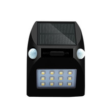 Newest 12 LED solar light IP65 waterproof Wide Angle Security Motion Sensor Light with 3 Modes Activated for Patio Garden