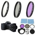 58mm UV FLD CPL Circular Polarizing Filter Kit Set + Lens Hood For Canon EOS 1200D 750D Rebel T4i T3i for T3 T2i T1i XT XS XSi
