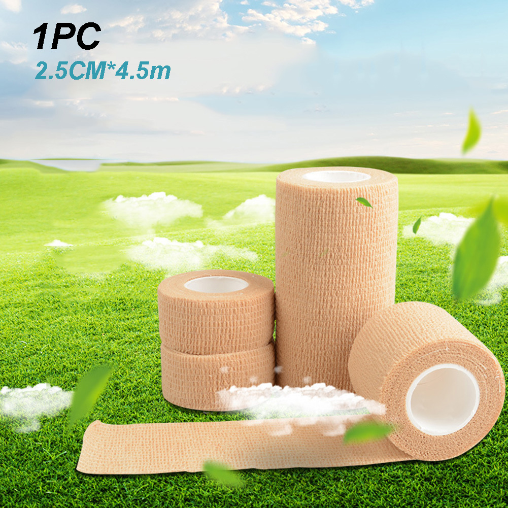 2.5cm X 4m Elastic Wrist Protect Finger Tape Self Adhesive Sports First Aid Wrap Strap Strapping Thumb Bandage EAB Fabric