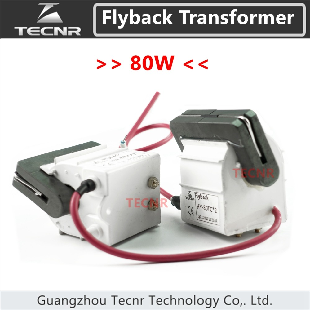 TECNR high voltage flyback transformer 80W for CO2 laser power supply parts