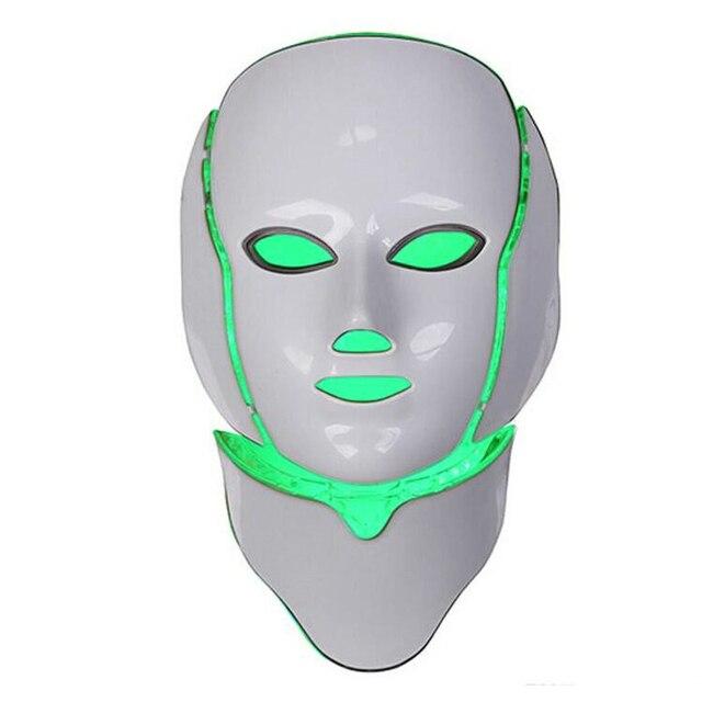 Korean LED Photodynamic Masks 7 Colors Lights LED Photodynamic Facial Mask Home Use Beauty Equipment Anti-acne Skin Rejuvenation 3