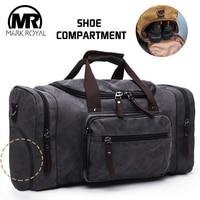 MARKROYAL Canvas Shoes Warehouse Travel Bags Men Duffle Shoe Bags Teenagers Crossbody Bags Large Capacity Weekend luggage Bags