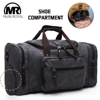 MARKROYAL Canvas Shoes Warehouse Travel Bags Men Duffle Shoe Bags Teenagers Crossbody Bags Large Capacity Weekend luggage Bags