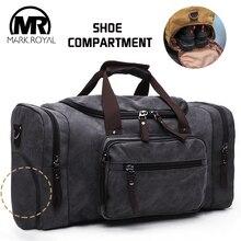 Markroyal lona sapatos armazém sacos de viagem dos homens duffle sapato sacos adolescentes crossbody sacos de grande capacidade fim de semana sacos de bagagem