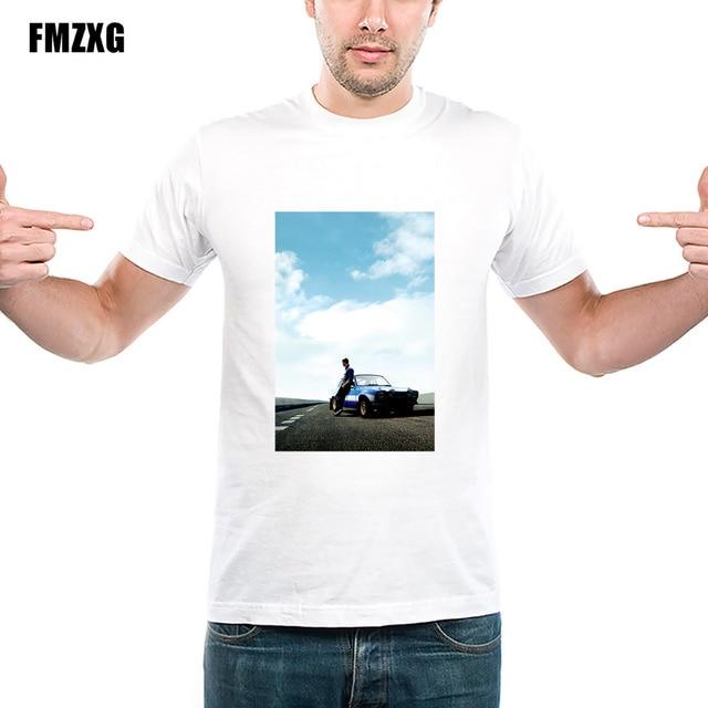 Men Cool Custom Design Fast Furious T Shirt Paul Walker Shirts Vin Sel For Boy Novelty S Round Neck Top Tees 86