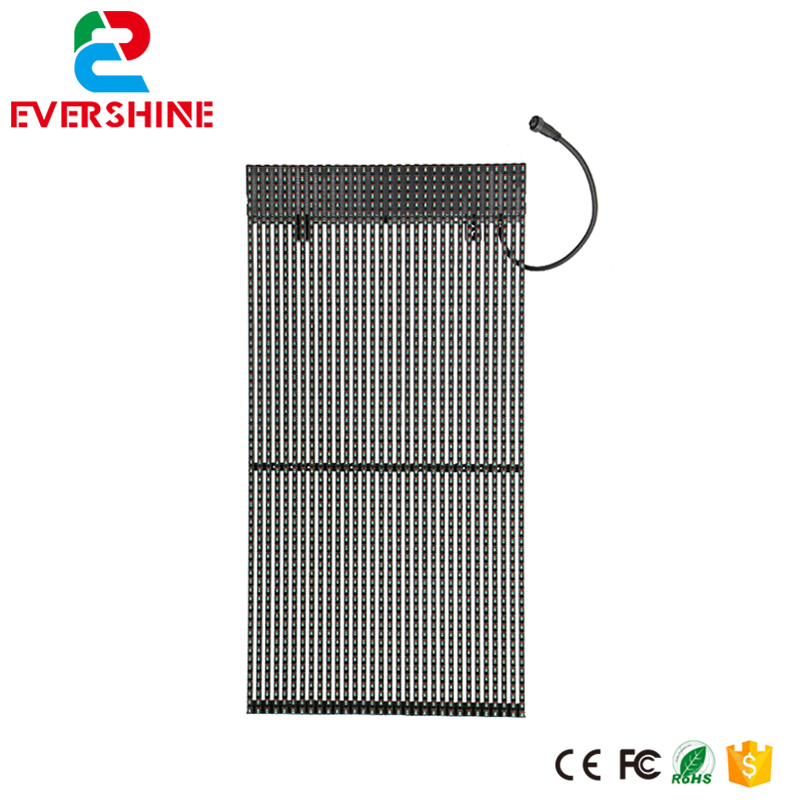 LED Grille Screen 15.625mm DIP346 Outdoor Full Color Strip Curtain LED Display Strip LED Video Curtain Display