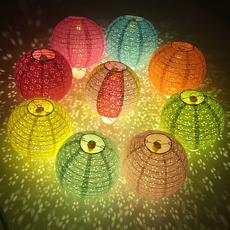 20cm 25cm 30cm 40cm Hollow Out Paper Lantern Balloon Chinese Round Paper Lantern Ball Lampion for Festival Wedding Party Decor