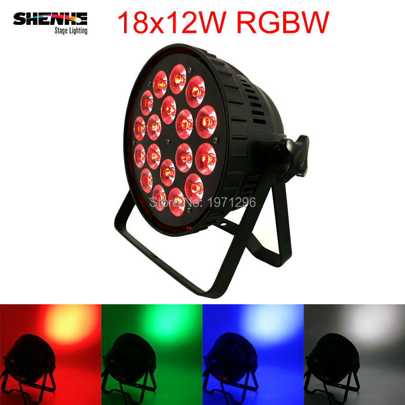 Aluminum Shell 18x12W RGBW LED Par Light DMX Stage Lights 4in1 Business Lights Professional For Party KTV Disco DJ Necessity wireless remote control 18x12w led par light rgbw 4in1 dmx professional lighting indoor stage lights dj equipment dmx dj light
