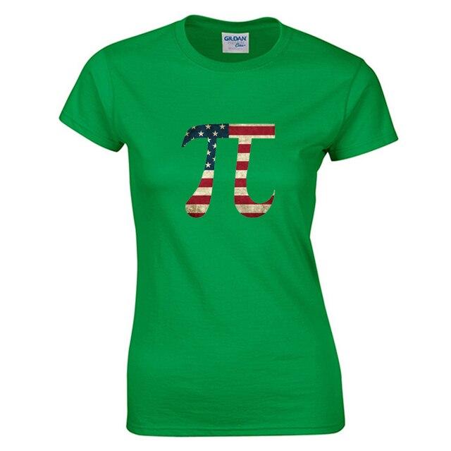 American pi green women t-shirt vintage 90s cool kawaii Harajuku t shirt brand funny Tumblr rock cotton vegan tops & tees