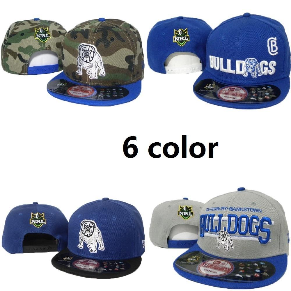 NRL Canterbury Bulldogs baseball caps snapback hats for girls women men  manstrapback The flat hat fashion gorras letter hip hop-in Baseball Caps  from ... ade5ec3bca7