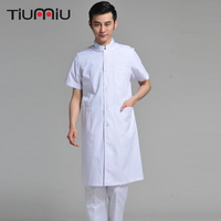 Doctor's Clothing Men Long Short Sleeve Medical Uniform Hospital Doctor Dental Clinic Fashion Design High Quality White Lab Coat