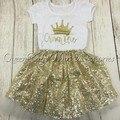 5 компл./лот блеск золота рождения снаряжение блеск золота боди корона блеск рубашка соответствия золото юбка
