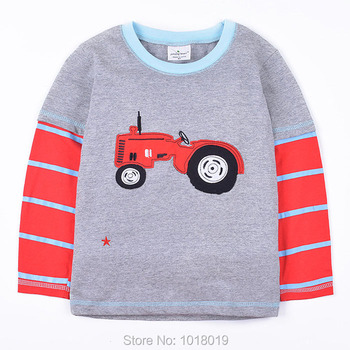 New 2018 Branded 100% Cotton Baby Boys t shirts Kids Clothing Clothes Children Long Sleeve t-shirts Boys Blouse Undershirts Boys