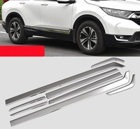 For Honda CRV 2017 2018 stainless steel Body Side Molding Trim Overlay accessories car styling
