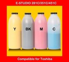 compatible for toshiba E-STUDIO 281C 351C 451C refill color toner powder high quality color toner cartridge powder free shipping