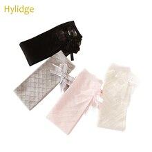 Hylidge/Детские носки с милым бантиком на весну и осень, детские чулки в сеточку с бриллиантами, Хлопковые гольфы для девочек, повседневные носки