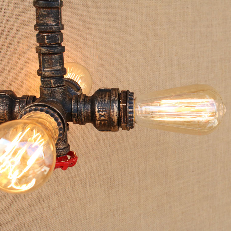 Retro Style Loft Industrial Lighting Fixtures Lampen Water Pipe Pendant  Lamp Rustic Vintage Light LED Edison Lampara Colgante In Pendant Lights  From Lights ...