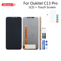 Alesser For Oukitel C13 Pro LCD Display And Touch Screen Digitizer Assembly Repair Parts+Tools+ Adhesive For Oukitel C13 Pro