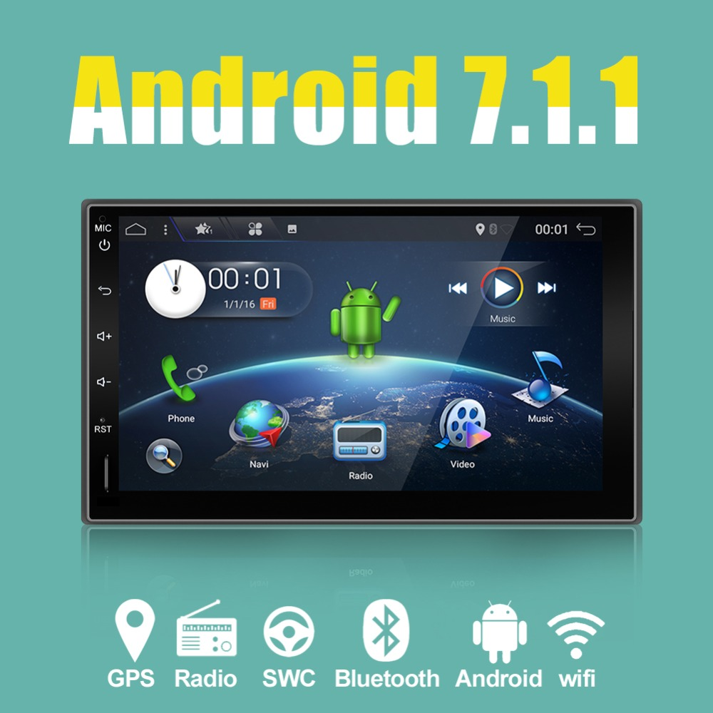 Auto Autoradio 2 Din Nu DVD Video Player Android7.1 Stereo GPS Auto - Electronică Auto