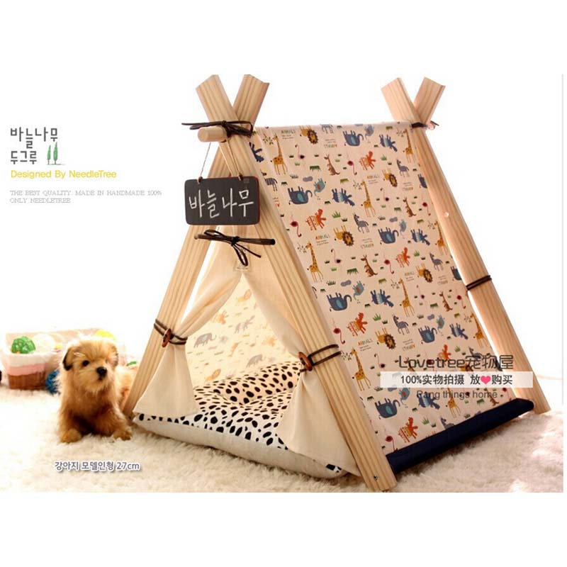 Pet Bed Teepee | Chic u0026 Trendy Small Dog Tent | Cat Nap play house with mat -in Toy Tents from Toys u0026 Hobbies on Aliexpress.com | Alibaba Group  sc 1 st  AliExpress.com & Pet Bed Teepee | Chic u0026 Trendy Small Dog Tent | Cat Nap play house ...