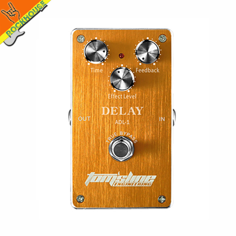 AROMA ADL-1 Analog Delay Guitar Effects Pedal Echo Delay Guitarra Pedal 400ms delay time Warm Smooth True Bypass Free Shipping free shipping new guitar effect pedal mooer ana echo analog delay pedal pedal true bypass