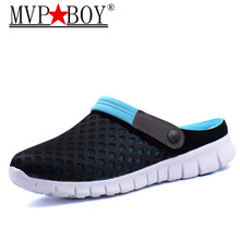 MVP BOY Big Size 36-46 Men Summer Shoes Sandals 2018 Beach Flip Flops Mens Slippers Light Breathable Outdoor Boat Casual Shoes uexia new big size 36 45 men summer shoes beach lovers unisex flip flops mens slippers lighted sandalias outdoor chanclas hombre